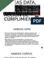 Habeas Data, Habeas Corpus y Acción De