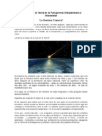 Resumen de La Teoría de La Panspermia Interplanetaria o Interestelar