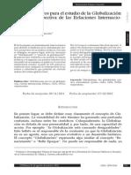 Apuntes teóricos para el estudio de la Globalización desde la perspectiva de las Relaciones Internacionales