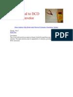 Decimal to BCD Convetor