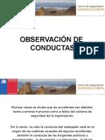 4.- Observación de Conductas