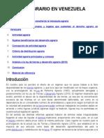 Derecho Agrario en Venezuela