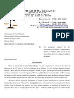 meegan recount supplementary filing