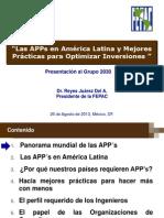APP - Asociaciones Publico Privadas