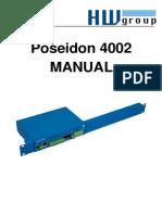 Poseidon 4002 MANUAL