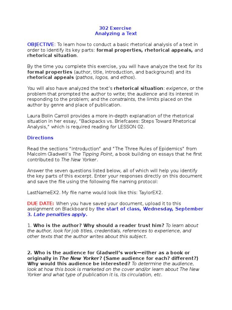 rhetorical analysis strategies