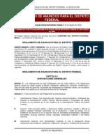 Reglamento de Anuncios Para El Distrito Federal