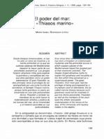 El Poder Del Mar El Thíasos Marino