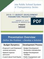 2010-11 Budget Dev Parameters Presentation