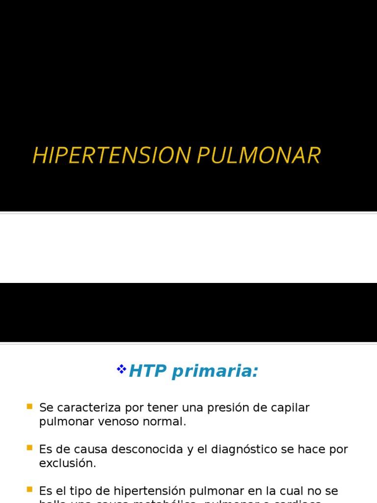Causa de hipertensión venosa pulmonar