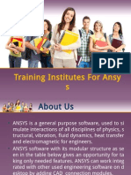 Training Institutes for Ansys Courses in Nagpur
