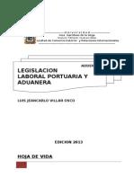 Addenda de Legislacion Laboral Portuaria y Aduanera de Jeancarlo Villar