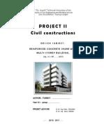 0. Coperta Si Tema _ Proiect Cladiri II