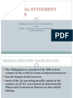 Financial Statement Analysis of Philex Mining Corp. and Abra Mining & Industrial Corp.