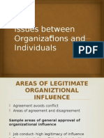 Issues Between Organizations and Individuals