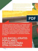 Los Bachillerato Populares. Educando Para Otra Economia