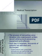 Medical Transcription (Medical Records)