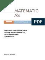Matematicas i Texto Paralelo