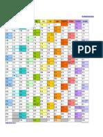2014 Calendar Landscape in Color Letter