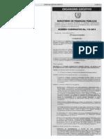Acuerdo Gubernativo 110-2014 Reformas Reglamento LOP a.G. 540-2013 Por Decreto 09-2014 Ref. LOP