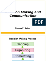 Decision Making and Communication