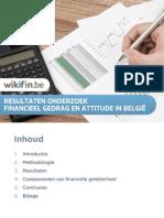 Resultaten Onderzoek Financieel Gedrag en Attitudes in Belgie 2015