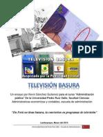 Ensayo sobre la Televisión Basura en el Perú