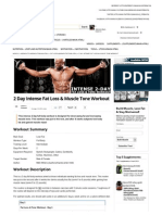 2 Day Intense Fat Loss & Muscle Tone Workout _ Muscle & Strength
