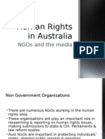 human rights in australia - ngos and media