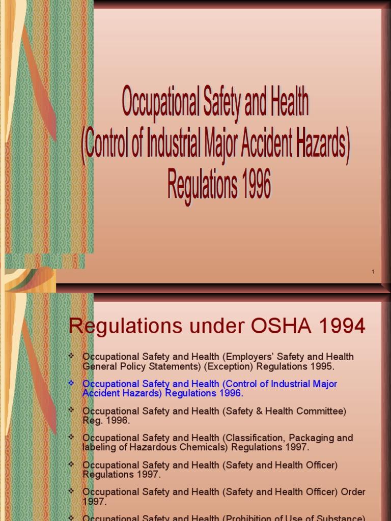 Cimah Regulations 1996 Pdf