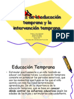 #3 Issues de La Educacion Temprana y La Intervencion