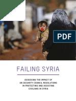 Failing Syria Unsc Resolution