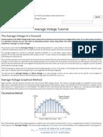 Average Voltage of a Sinusoidal AC Waveform