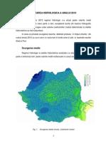 Caracterizarea Hidrologica a Anului 2010