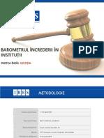 IRES - Barometrul increderii in institutii