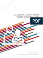 Isced Fields of Education Training 2013