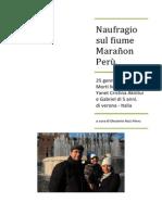 Naufragio Sul Fiume Marañon 25 Gennaio 2015