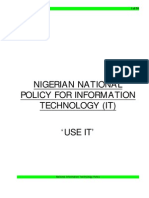 Nigerian IT Policy