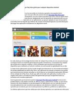 Descargar Play Store gratis para cualquier dispositivo Android.pdf