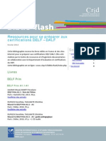 Biblio Flash Ressources de Preparation Aux Certifications Delf Dalf