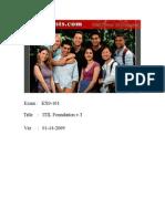 ITIL Foundation v3 EX0-101