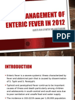 Management of Enteric Fever in 2012