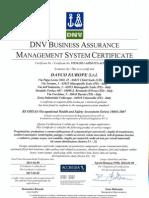 Certificate Ohsas 20140109