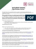 Equivalent Means - Legal Practice Course v4