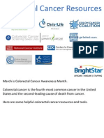 Colorectal Cancer Resources