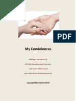 'My Condolences'