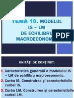 TEMA 10. Modelul is-LM de Echilibru Macroeconomic.