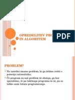 3 in 4 Opredelitev Problema in Algoritem (1)