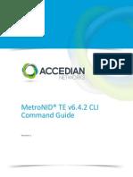 MetroNID TE v6.4.2 CLI Command Guide