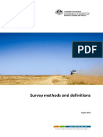 Survey Definitions Methods